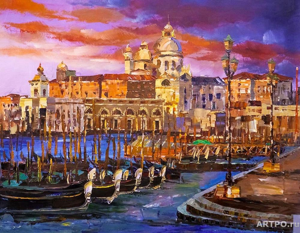 Rodriguez José. View of the Cathedral of Santa Maria della Salute. Sunset