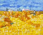 A copy of Van Gogh's. Harvesting in Provence
