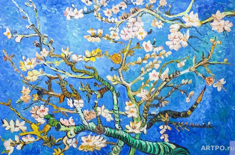Vlodarchyk Andjey. Copy of van Gogh's painting. Branches with Almond Blossom, 1885 (flowering almond branches)