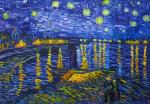 Copy of van Gogh. Starry night over Rhone