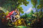 Copy of the painting by Francois Boucher. Four Seasons. Spring