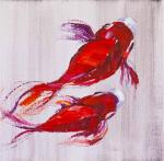 Carps Koi. Japanese goldfish for good luck N6