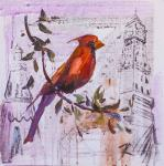 Red Cardinal. Visiting the Queen