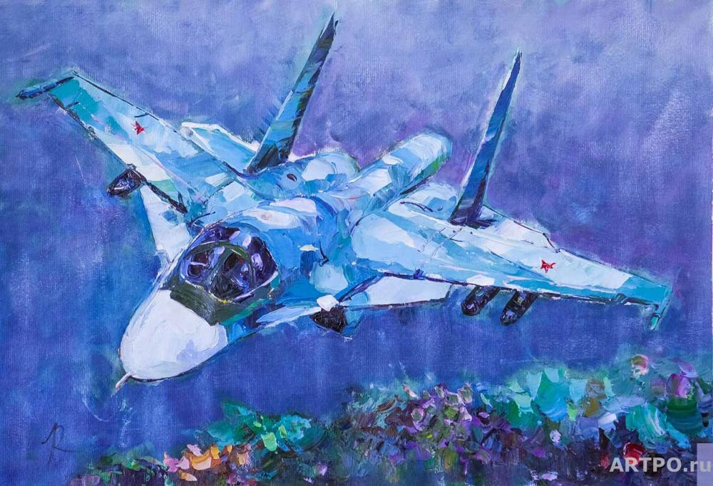 Rodriguez José. MiG-35 Airplane. In the Heavenly Spaces