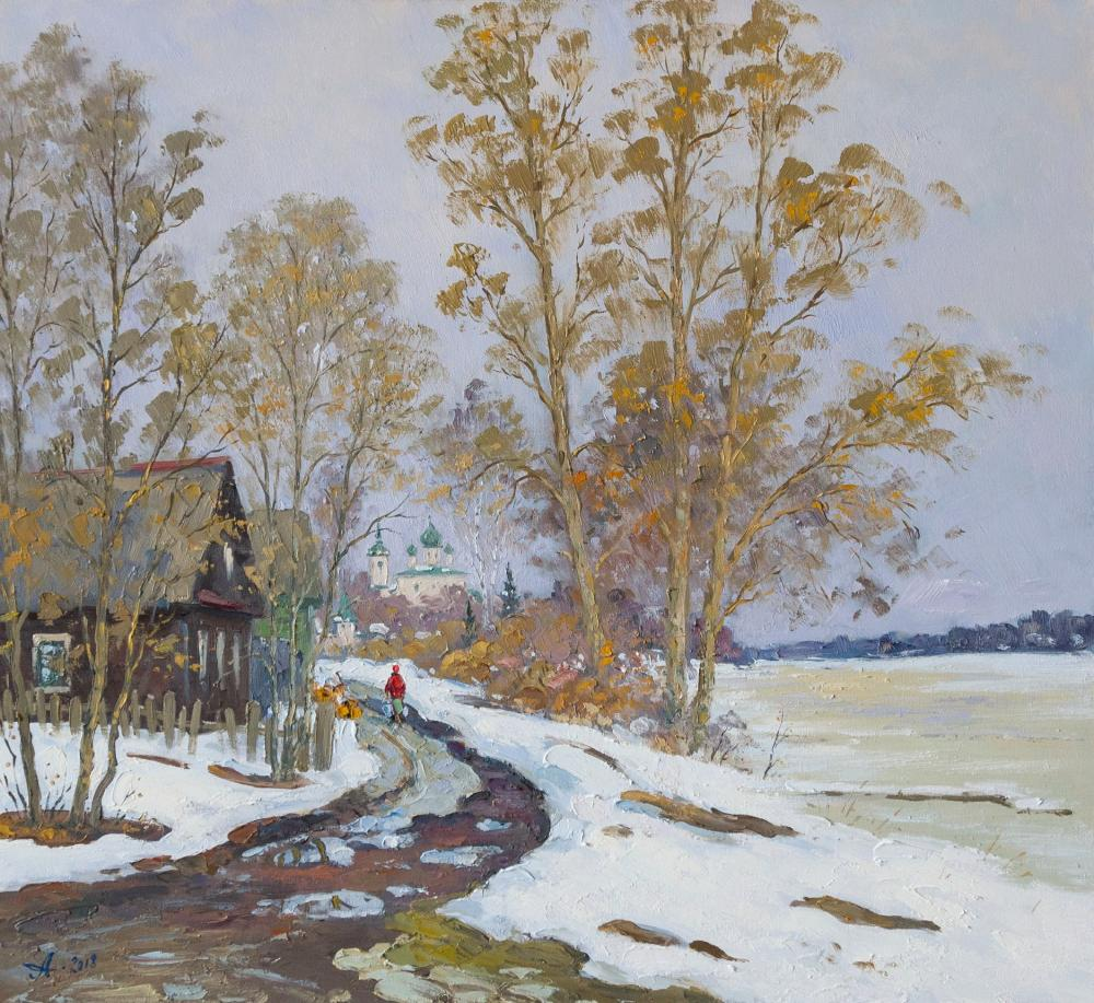 Alexandrovsky Alexander. Spring in Old Ladoga, evening