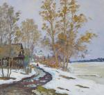 Spring in Old Ladoga, evening