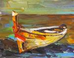 Yellow Boat on the Shore N2