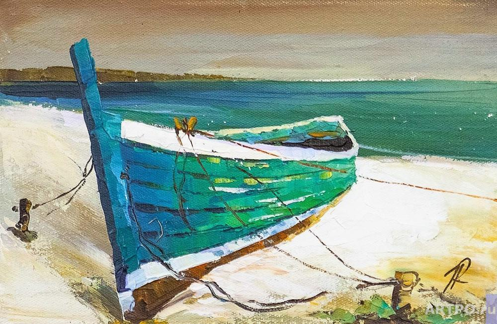 Rodriguez José. Boat on the sandy shore