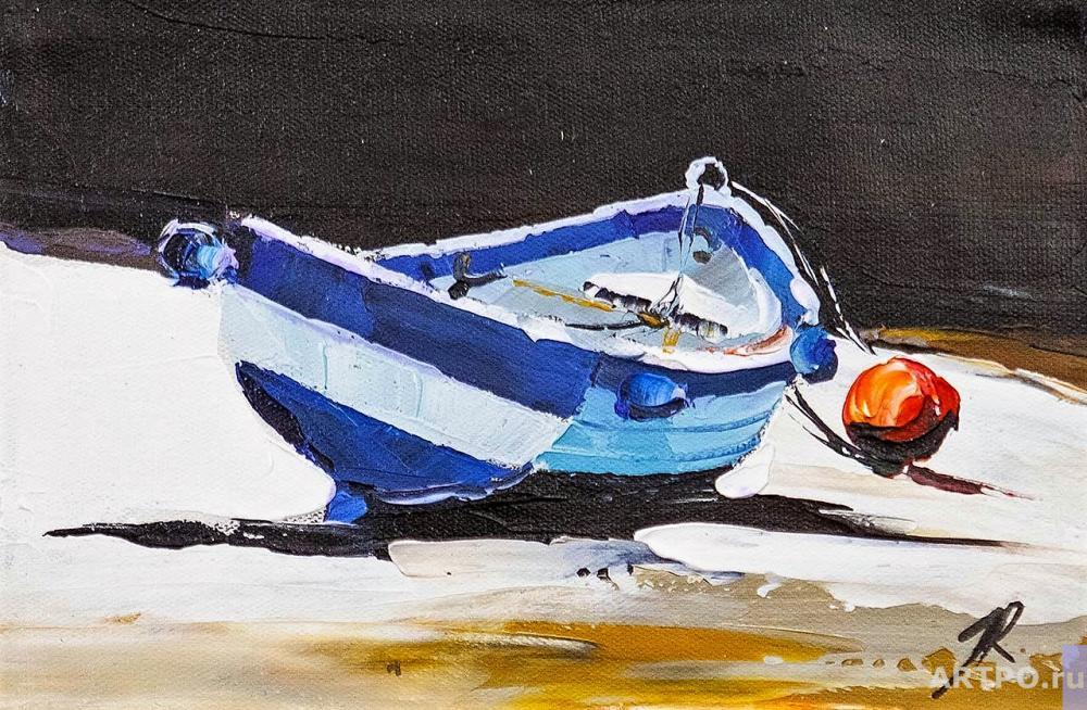 Rodriguez José. Boat. On the Mediterranean Coast