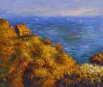 A copy of Claude Monet's painting. A Fisherman's House in Varanzhvil, 1882