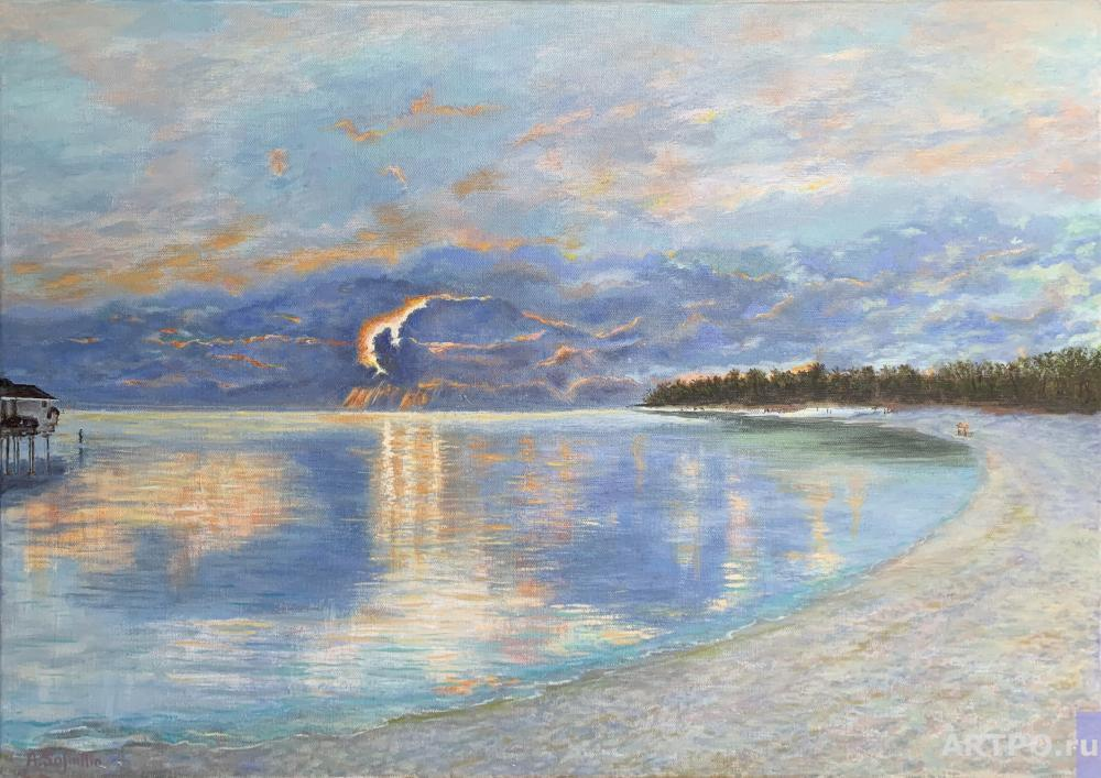 Safiullin Albert. Sunset in the Indian Ocean