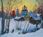 Village Kravotyn, winter