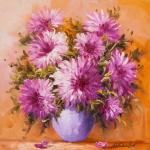 Garden asters in a vase