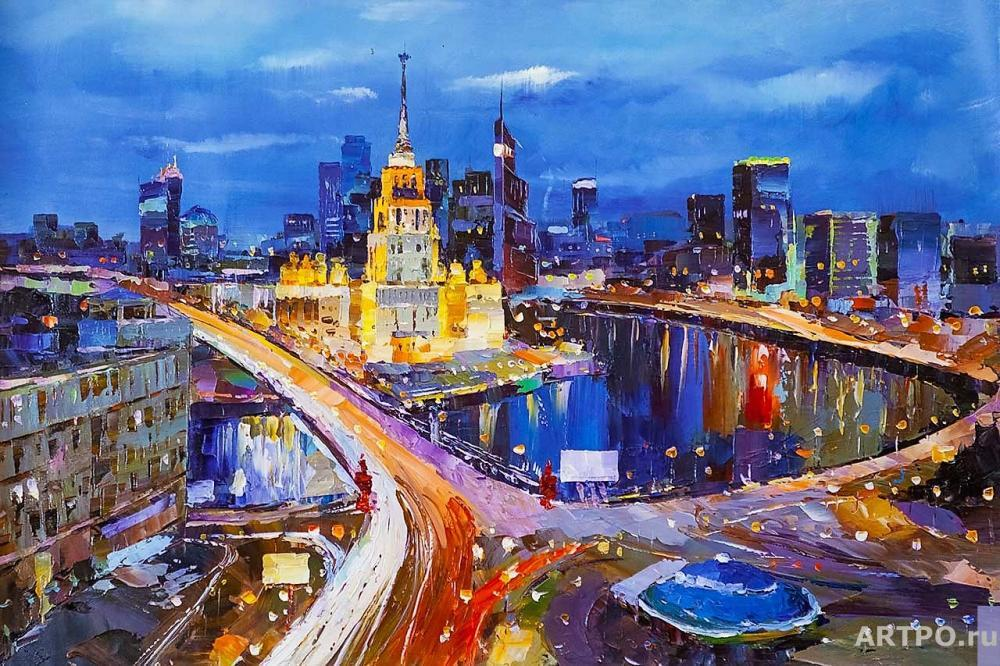 Rodriguez José. Night Moscow in Motion