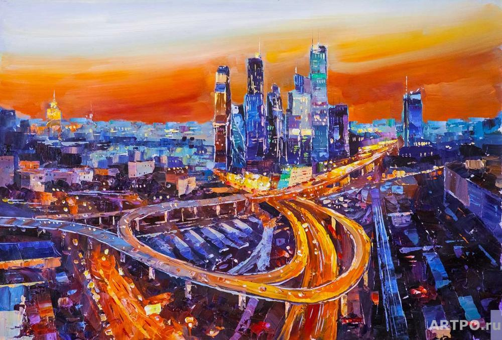 Rodriguez José. Moscow-City. Ardent Sunset