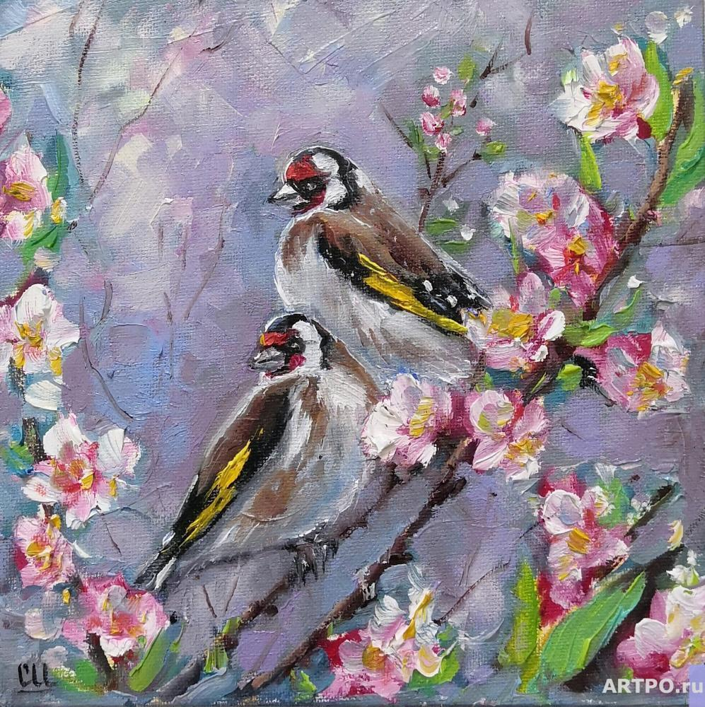 Shamshurina Svetlana. Two Goldfinches