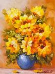 Sunflowers in a blue vase N2