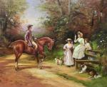 A copy of the picture of H. Hardy. A Meeting By The Stile