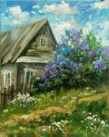 House with lilac