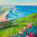Blooming Valley. View of the coast