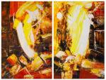 In the heart of the volcano. Diptych N2
