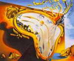 A copy of Salvador Dali's painting. A soft watch at the time of the first explosion