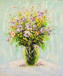 Spring bouquet in a glass vase