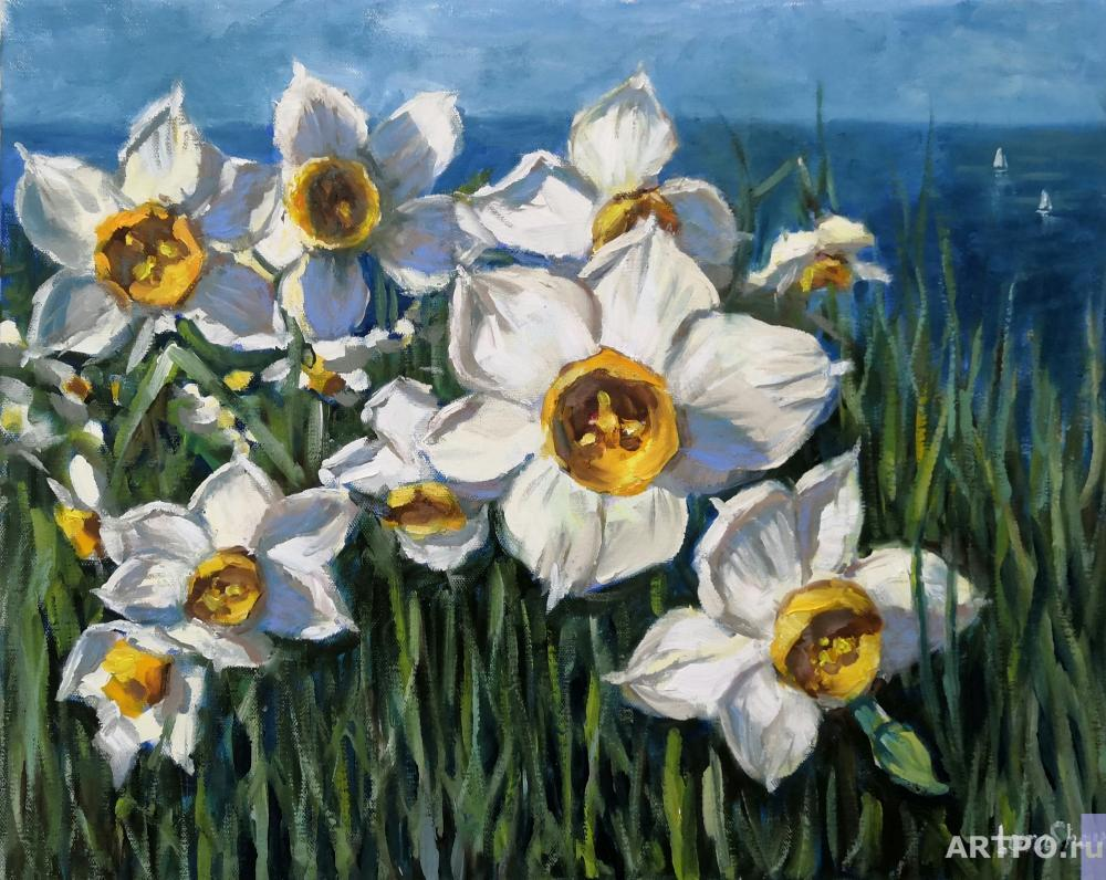 Shamshurina Svetlana. Daffodils by the sea