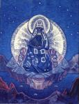 Copy of the painting by N. K. Roerich. Mother of the World