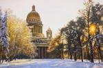 St. Isaac's Cathedral in the sunset