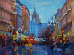 The lights of the old Arbat