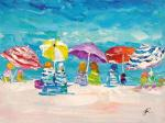 Summer stories. Multi-colored umbrellas N2