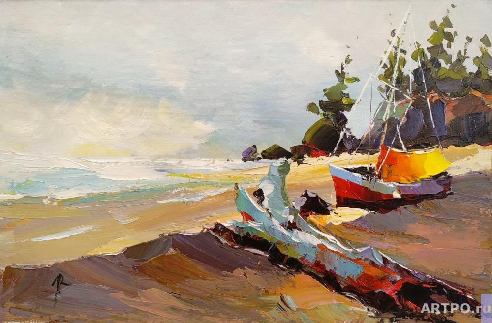 Rodriguez José. Boat on the shore N2