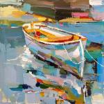 White boat on the water