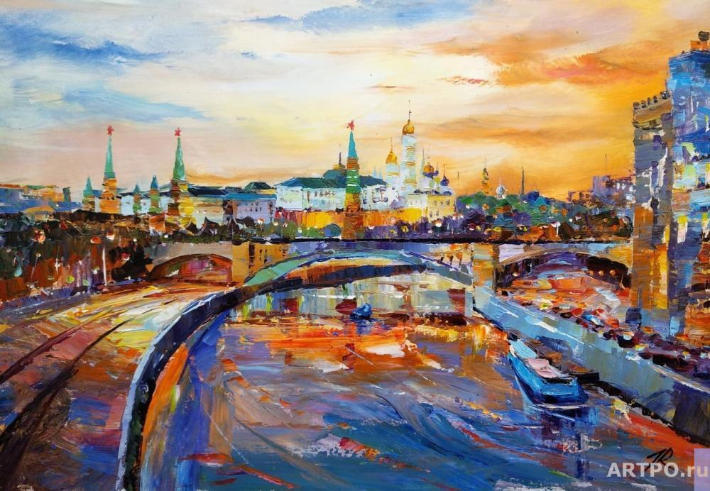 Rodriguez José. Ships sailed along the Moscow River ...