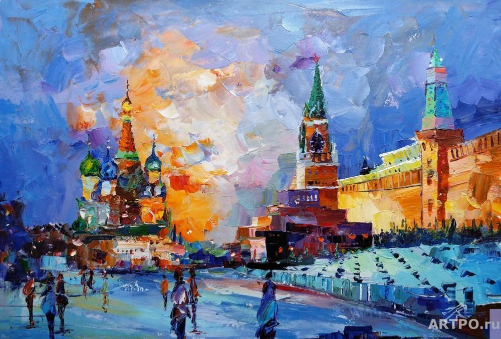 Rodriguez José. Moscow. Walking on Red Square