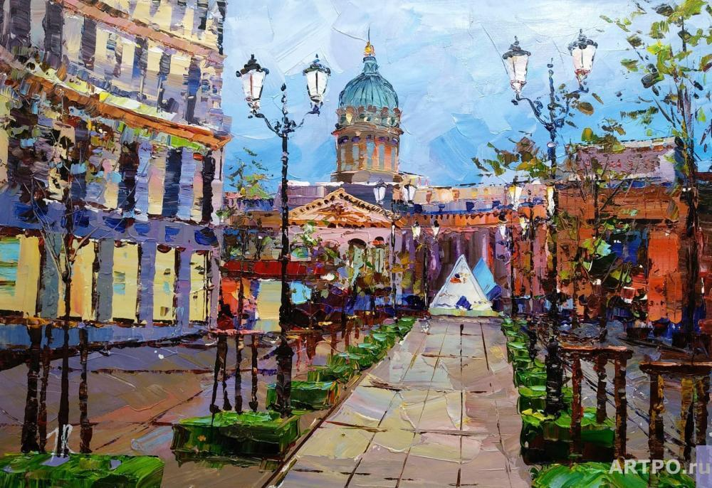 Rodriguez José. St. Petersburg. View of the Kazan Cathedral