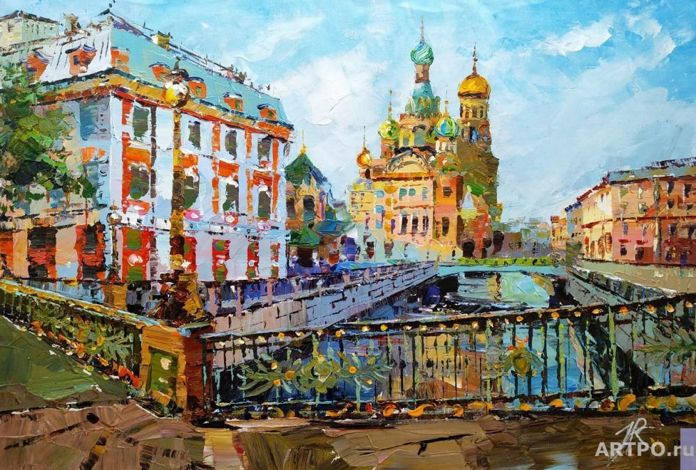 Rodriguez José. View of the Church of the Savior on Spilled Blood from the Theater Bridge