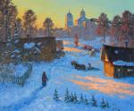 Old Izborsk, winter evening