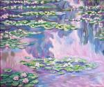 Water Lilies,1905,а сopy of Claude Monet 's painting
