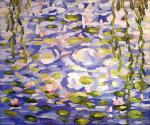 Free copy of Claude Monet 's painting Water Lilies, 1919