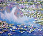 Water Lilies,1906,а сopy of Claude Monet 's painting
