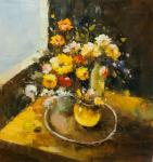 Still life in yellow tones