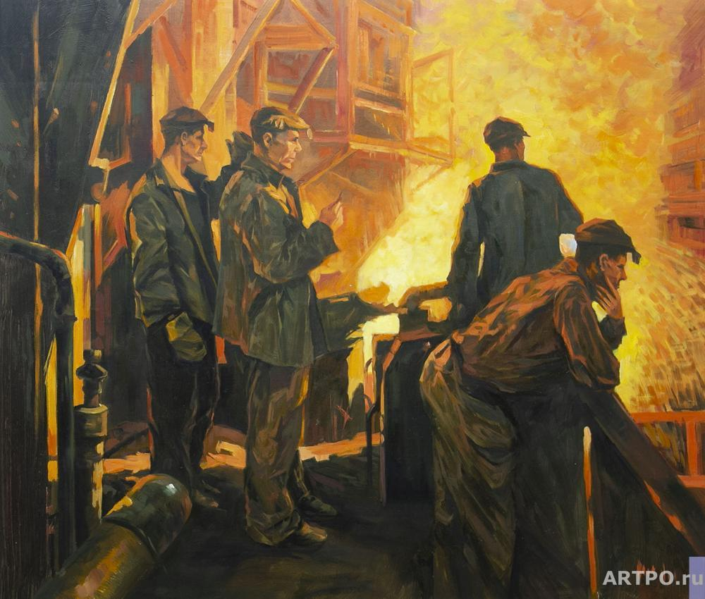 Kamskij Savelij. A copy of the painting by Fedor Razin. Steel is coming (the Steelworkers' Team)