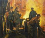 A copy of the painting by Fedor Razin. Steel is coming (the Steelworkers' Team)