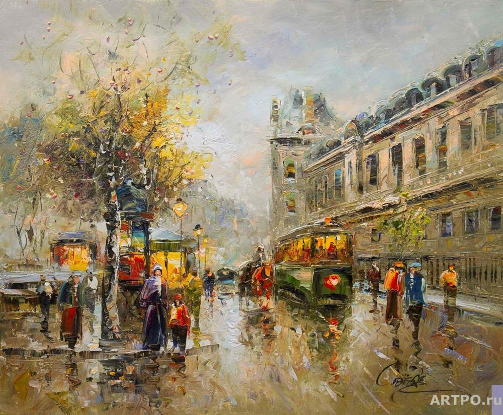 Vevers Christina. The landscape of Paris by Antoine Blanchard. Louvre