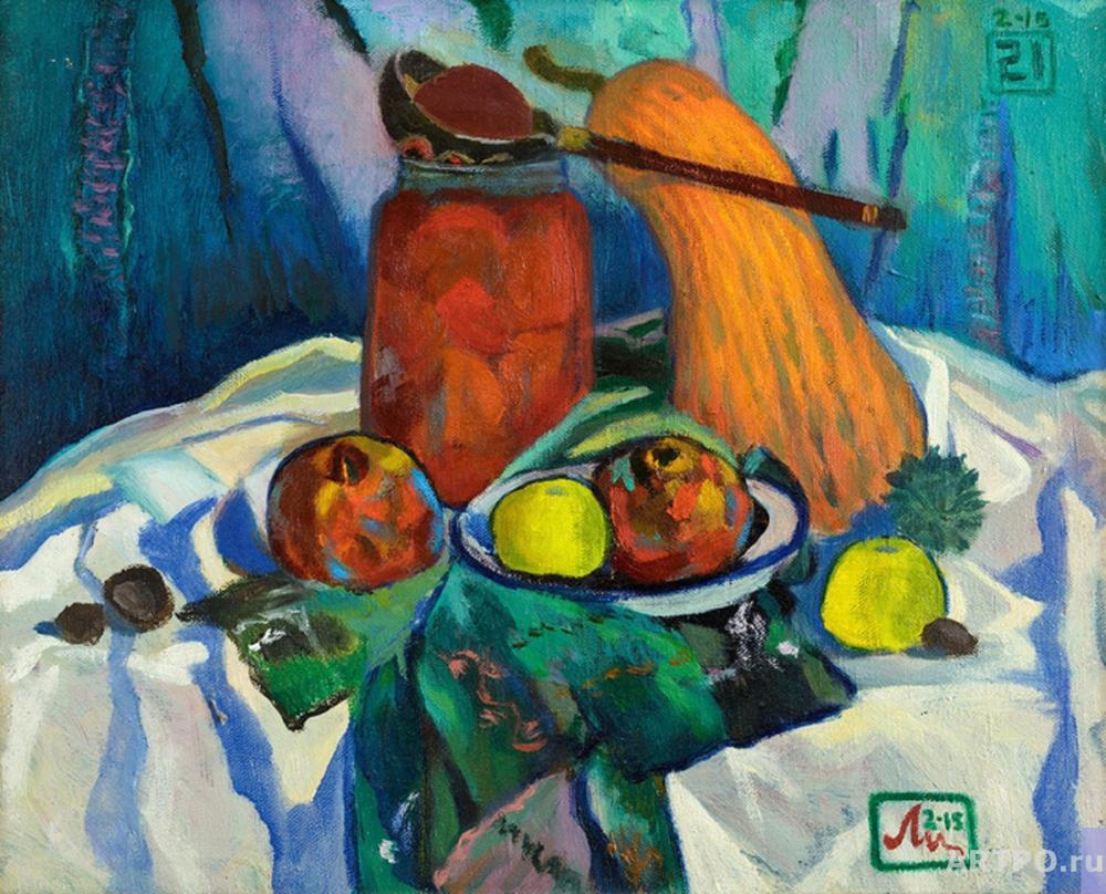 Li Moesey. Still life with marinated tomatoes