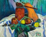 Still life with marinated tomatoes