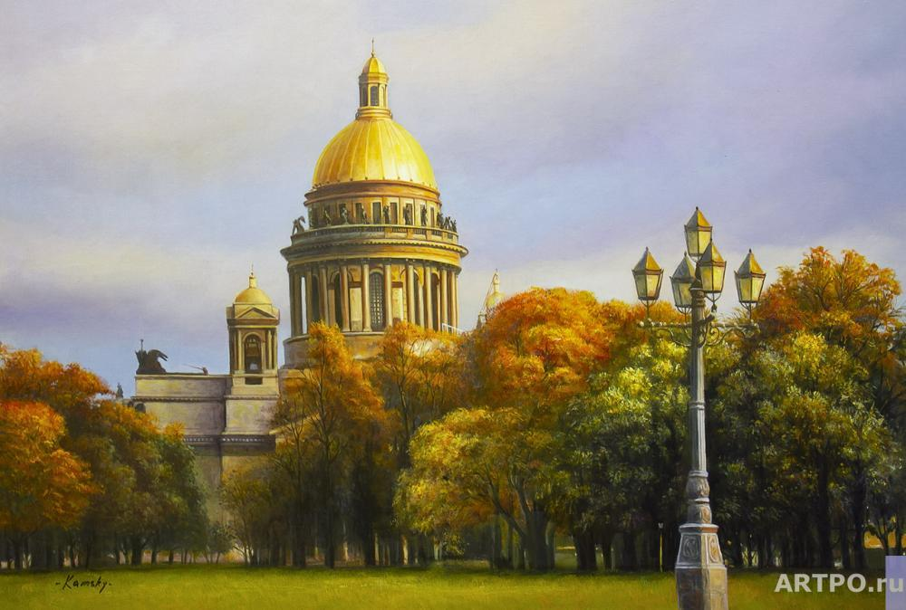 Kamskij Savelij. Autumn in St. Petersburg. View of St. Isaac's Cathedral