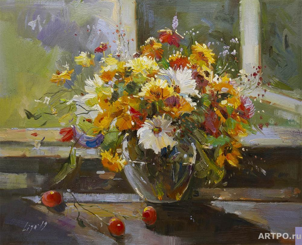 Gomes Liya. Autumn bouquet on the table